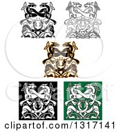 Celtic Knot Wolf Or Dog Designs