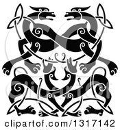 Black Celtic Knot Wolf Or Dog Design