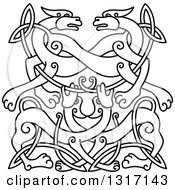 Lineart Celtic Knot Wolf Or Dog Design