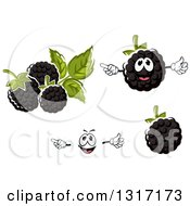 Clipart Of A Cartoon Face Hands And Blackberries Royalty Free Vector Illustration