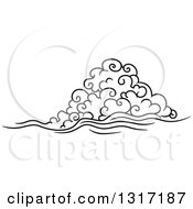 Clipart Of A Black And White Swirly Cloud And Wind 8 Royalty Free Vector Illustration by Vector Tradition SM