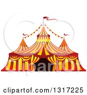 Clipart Of A Red And Yellow Big Top Circus Tent Royalty Free Vector Illustration by Vector Tradition SM