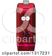 Clipart Of A Cartoon Happy Currant Juice Carton Character 6 Royalty Free Vector Illustration by Vector Tradition SM