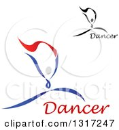 Clipart Of Ribbon Dancers In Action With Text Royalty Free Vector Illustration