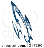 Clipart Of A Retro Blue Space Rocket 11 Royalty Free Vector Illustration by Vector Tradition SM