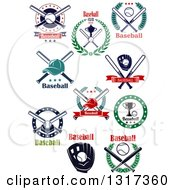 Clipart Of Baseball Sports Designs With Text Royalty Free Vector Illustration