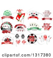 Clipart Of Casino And Poker Designs 2 Royalty Free Vector Illustration
