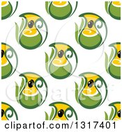 Clipart Of A Seamless Olive Oil Pattern Background Royalty Free Vector Illustration
