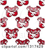 Clipart Of A Seamless Red Crab Background Pattern 3 Royalty Free Vector Illustration