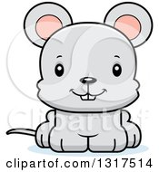 Animal Clipart Of A Cartoon Cute Happy Mouse Royalty Free Vector Illustration by Cory Thoman