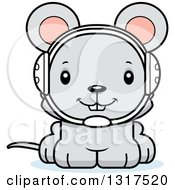 Animal Clipart Of A Cartoon Cute Happy Mouse Wrestler Royalty Free Vector Illustration