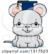 Animal Clipart Of A Cartoon Cute Happy Mouse Professor Royalty Free Vector Illustration