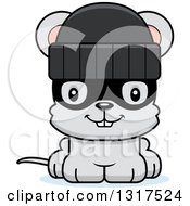Animal Clipart Of A Cartoon Cute Happy Mouse Robber Royalty Free Vector Illustration