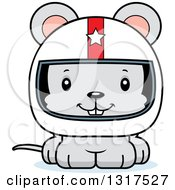 Animal Clipart Of A Cartoon Cute Happy Mouse Race Car Driver Royalty Free Vector Illustration