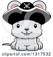 Animal Clipart Of A Cartoon Cute Happy Mouse Pirate Royalty Free Vector Illustration