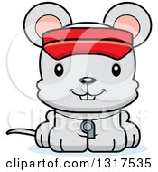 Animal Clipart Of A Cartoon Cute Happy Mouse Lifeguard Royalty Free Vector Illustration
