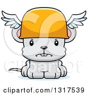 Animal Clipart Of A Cartoon Cute Mad Mouse Hermes Royalty Free Vector Illustration