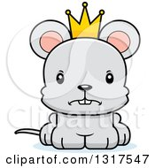 Animal Clipart Of A Cartoon Cute Mad Mouse Prince Royalty Free Vector Illustration