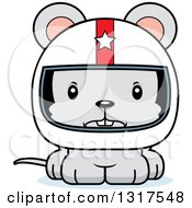 Animal Clipart Of A Cartoon Cute Mad Mouse Race Car Driver Royalty Free Vector Illustration
