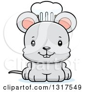 Animal Clipart Of A Cartoon Cute Happy Mouse Chef Royalty Free Vector Illustration