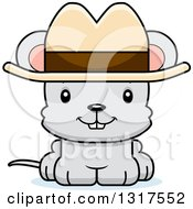 Animal Clipart Of A Cartoon Cute Happy Mouse Cowboy Royalty Free Vector Illustration