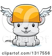Animal Clipart Of A Cartoon Cute Happy Mouse Hermes Royalty Free Vector Illustration