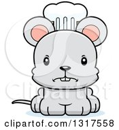 Animal Clipart Of A Cartoon Cute Mad Mouse Chef Royalty Free Vector Illustration