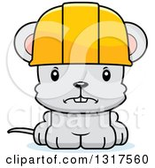 Cartoon Cute Mad Mouse Construction Worker