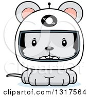 Animal Clipart Of A Cartoon Cute Mad Mouse Astronaut Royalty Free Vector Illustration