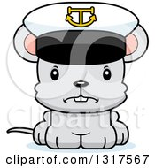 Animal Clipart Of A Cartoon Cute Mad Mouse Captain Royalty Free Vector Illustration