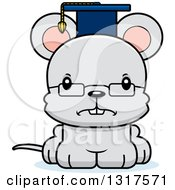 Animal Clipart Of A Cartoon Cute Mad Mouse Professor Royalty Free Vector Illustration