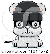 Animal Clipart Of A Cartoon Cute Mad Mouse Robber Royalty Free Vector Illustration
