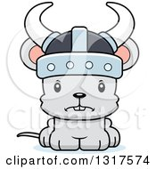 Animal Clipart Of A Cartoon Cute Mad Mouse Viking Royalty Free Vector Illustration