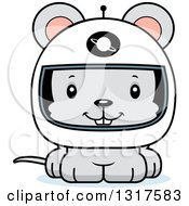 Animal Clipart Of A Cartoon Cute Happy Mouse Astronaut Royalty Free Vector Illustration