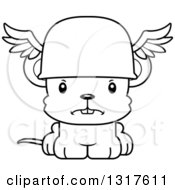 Animal Lineart Clipart Of A Cartoon Black And WhiteCute Mad Mouse Hermes Royalty Free Outline Vector Illustration