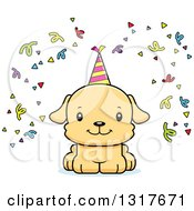 Animal Clipart Of A Cartoon Cute Happy Puppy Puppy Dog Royalty Free Vector Illustration