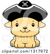Animal Clipart Of A Cartoon Cute Happy Puppy Dog Pirate Royalty Free Vector Illustration