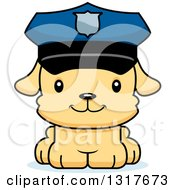 Animal Clipart Of A Cartoon Cute Happy Puppy Dog Police Officer Royalty Free Vector Illustration by Cory Thoman