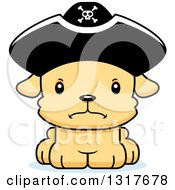 Animal Clipart Of A Cartoon Cute Mad Puppy Dog Pirate Royalty Free Vector Illustration