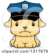 Animal Clipart Of A Cartoon Cute Mad Puppy Dog Police Officer Royalty Free Vector Illustration by Cory Thoman