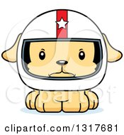 Animal Clipart Of A Cartoon Cute Mad Puppy Dog Race Car Driver Royalty Free Vector Illustration
