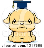 Animal Clipart Of A Cartoon Cute Mad Puppy Dog Professor Royalty Free Vector Illustration