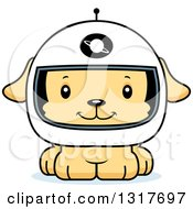 Animal Clipart Of A Cartoon Cute Happy Puppy Dog Astronaut Royalty Free Vector Illustration