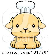 Animal Clipart Of A Cartoon Cute Happy Puppy Dog Chef Royalty Free Vector Illustration