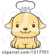Cartoon Cute Happy Puppy Dog Chef