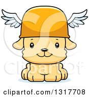 Animal Clipart Of A Cartoon Cute Happy Puppy Dog Hermes Royalty Free Vector Illustration