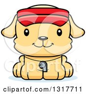 Animal Clipart Of A Cartoon Cute Happy Puppy Dog Lifeguard Royalty Free Vector Illustration