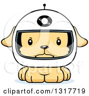 Animal Clipart Of A Cartoon Cute Mad Puppy Dog Astronaut Royalty Free Vector Illustration