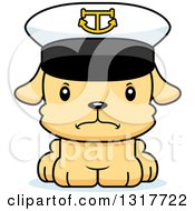 Animal Clipart Of A Cartoon Cute Mad Puppy Dog Captain Royalty Free Vector Illustration