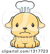 Animal Clipart Of A Cartoon Cute Mad Puppy Dog Chef Royalty Free Vector Illustration